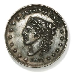 George A Jarvis Ht 284 Low 123 One Cent Hard Times Token. New York Ny.