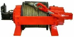 Hydraulic Winch - 29700 LBS Cap - 13.5 Tons - Air & Manual Clutch - Commercial