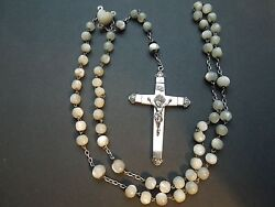 N415 Art Nouveau Silver Rosary French See Descrip