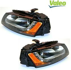 For Audi A5 S5 Pair Set Of 2 Front Xenon Headlight Assembly E-code Valeo