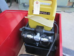 Nos Enerpac 1/2hp Hydraulic Power Pack Model E4197c, W/hoses And Box Sc