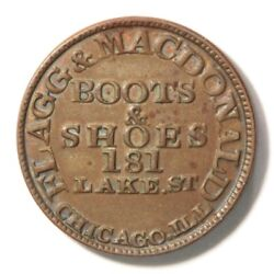 1859 U.s. Business Card Of Flagg And Macdonald Boots And Shoes. Rev Die 1368 R-3
