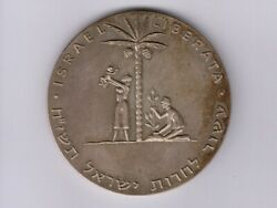 Israel 1st State Medalsilver 121g61mm1961 Liberation