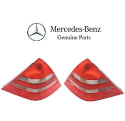 For Mercedes R170 Slk230 Pair Set Of Left And Right Taillight Assemblies Genuine