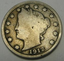 1912 Liberty V Nickel In The Good Range A Great Filler Coin Priced Right Cheap