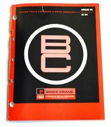 Wilton Boice Crane Bc-104 Power Tools For Wood And Metalworking Brochure