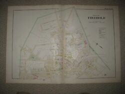 Huge Masterpiece Antique 1889 Freehold New Jersey Handcolored Map North Part Nr