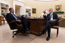 President Obama And Chief Of Staff Mcdonough 12x18 Silver Halide Photo Print