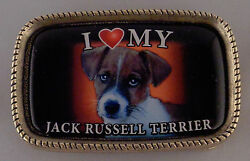 I Love My JACK RUSSELL TERRIER Belt Buckle MADE IN THE USA!