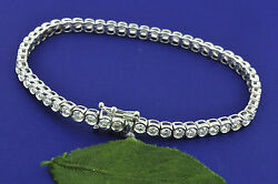 5.50 ct 18k Solid White Gold Ladies Diamond Tennis Bracelet   VS F made in USA