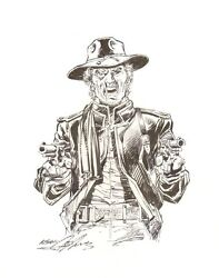 Jonah Hex Commission - First Ever Hex Adams Commission Signed Art By Neal Adams