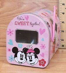Disney Weand039re Sweet Together Minnie Loves Mickey Mailbox Shaped Container