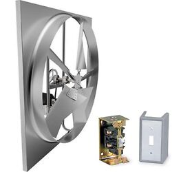 24 Exhaust Fan - 5595 Cfm - 115 Volts - 1/3 Hp - 1 Phase - Commercial Grade