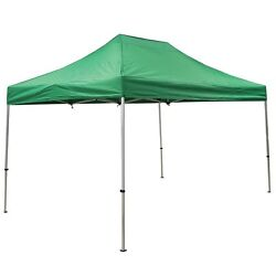 Green 10and039 X 15and039 Fast Shade Instant Pop Up Gazebo Canopy / Folding Tent Complete