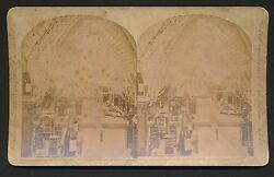 1876 Centennial Exposition Interior Huge Store Displays Vintage Stereoview Card