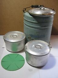 Vintage Landers Frary And Clark Universal Picnic Camping Metal Cooler Thermos  T