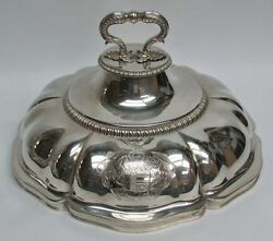 Rare 19th Century London Sterling Silver 11 Entree Cover Dome By W. Leuchars