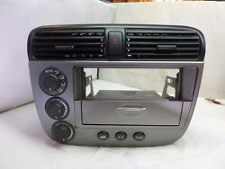 01-04 Honda Civic AC Heater Climate Control & Radio Bezel (Silver) RS32123