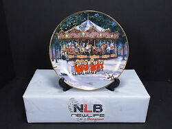 Franklin Mint Carousel Holiday By Sandi Lebron Limited Edition Decorative Plate