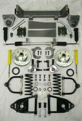 1953 -1956 Ford F100 Mustang Ii Manual Front End Suspension Kit Ifs Stock Height