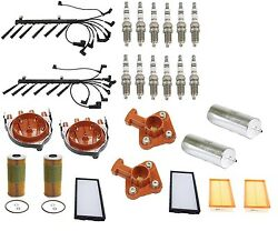 For BMW E32 750iL V12 5.0 6/90-94 Air Cabin Fuel Oil Filters Plugs Tune Up Kit