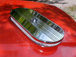 Custom cobra style single 4bbl ribbed oval air cleanerrat rodVINTAGEmustang