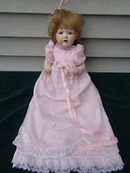 Jdk 237 Reproduction German Porcelain Bisque Doll Signed Enchanted Dolls By Dee