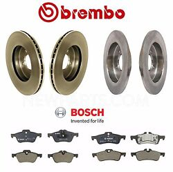 For Mini Cooper 02-07 Front And Rear Disc Brake Rotors W/ Pads Brembo Bosch