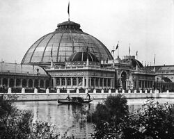 1893 COLUMBIAN EXPOSITION HORTICULTURAL HALL 11x14 SILVER HALIDE PHOTO PRINT
