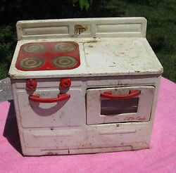 Vintage Little Lady Heat-trol 12 X 11 Electric Metal Stove - Oven - 1950's