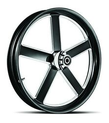 Dna Victory Black Forged Billet 23 X 3.75 Front Wheel Harley Softail