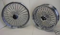 Dna Mammoth 52 Fat Spoke Chrome Wheels Harley 21x3.5 And 16x3.5 Softail Touring