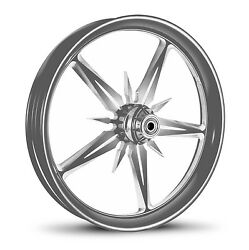 Dna Threat Chrome Forged Billet 21 X 2.15 Front Wheel Harley Softail Dyna