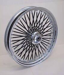 Dna Mammoth 21x3.5 Fat 52 Black Spoke Front Wheel Softail Deluxe Heritage Harley