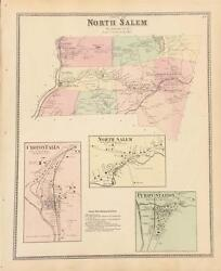 Antique Map North Salem, New York - Fw Beers Atlas Of Ny And Vicinity 1867