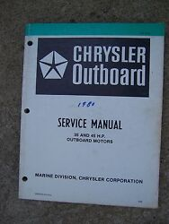 1980 Chrysler 35 45 Hp Outboard Motor Service Manual Lots More In Our Store V