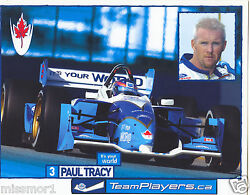 Paul Tracy 2002 Team Players.ca Racing Promotional Picture Signature Card 3