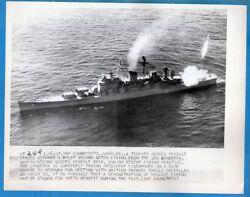 1957 Guided Missile Cruiser CAG-2 USS Canberra Firing Terrier Missile Soundphoto
