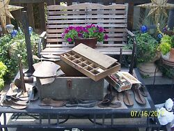 Rare Antique Shoemakers Tools Cobblers Shoe Repair . Very Very Large Amount