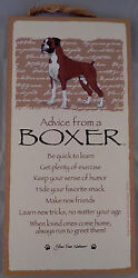 Advice from a BOXER 10 X 5 hanging Wood Sign MADE IN THE USA