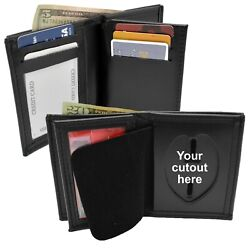 Perfect Fit Custom Badge Wallet Police Corrections Bifold Leather Many Agencies