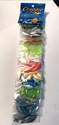 Crappie Pro Assorted Color Combos Dyno Shads 120 Lures Total