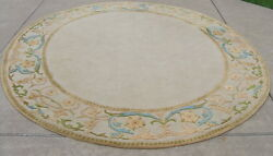 Vintage Mid Century Modern Eames Period Stark Rug Co Oval Hooked Rug 91x104