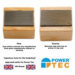 Power-tec 2 X Nib Files - Fine And Coarse - Ideal For Bodyshop - Fix Imperfections
