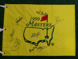 Coody Ford Goalby Signed 1999 Masters Golf Flag Autograph Aftal Coa