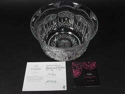 Waterford Crystal Lismore Limited Edition 12/60 Great Hall Bowl By Jim O'leary