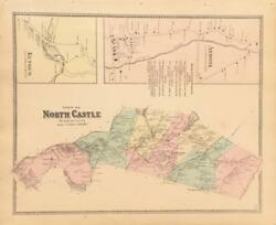 Antique Map North Castle, Ny - Fw Beers Atlas Of New York And Vicinity 1867
