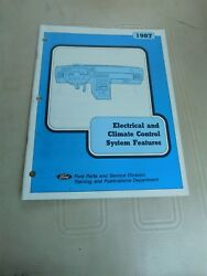1987 FORD ELECTRICAL AND CLIMATE CONTROL SYSTEM FEATURES SHOP SERVICE MANUAL