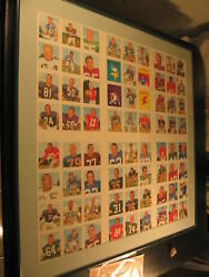 1964 Topps Wheaties Stamps Complete Set Proof Sheet