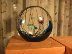 Biomorphic Art Glass Orb-signed Costantini 1993 Italy
